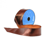 Berwick 3.8cm Wide by 10-Yard Spool Wired Edge Flipside Craft Ribbon, Chocolate