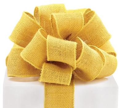 #16 Yellow Burlap Wired Ribbon