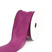Creative Ideas Wired Burlap Ribbon, 6.4cm , Hot Pink