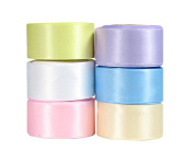 Hip Girl Boutique 30yd (6x 5yd) 2.2cm Satin Ribbon-Double Face--Combo--Pastel