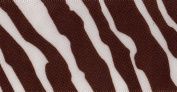 Venus Ribbon 3.8cm Zebra SF Satin Ribbon, White/Choco, 5-Yard