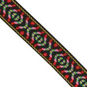 "5 yards 1-1/8"" WIDE 28mm Geometric Woven Jacquard Ribbon Trim Tape"