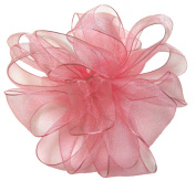 Offray Wired Edge Encore Sheer Craft Ribbon, 1.6cm Wide by 25-Yard Spool, Light Pink