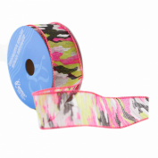 Berwick Wired Edge Treed Craft Ribbon, 3.8cm by 10-Yard Spool, Hot Pink