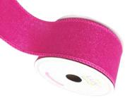 LUV RIBBONS Fabric Ribbon by Creative Ideas, 5.1cm , Canvas Glam, Fuchsia