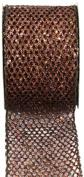 Kel-Toy Metallic Glitter Mesh Net Ribbon, 6.4cm by 10-Yard, Copper