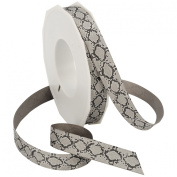 Morex Ribbon Snake Grosgrain Ribbon, Grey
