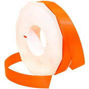 Morex Ribbon Neon Brights Satin, 2.2cm by 50-yard, Neon Tangerine
