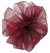 Offray Wired Edge Encore Sheer Craft Ribbon, 3.8cm Wide by 25-Yard Spool, Burgundy