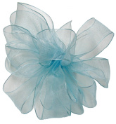 Offray Wired Edge Encore Sheer Craft Ribbon, 3.8cm Wide by 25-Yard Spool, Light Blue