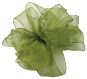 Offray Wired Edge Encore Sheer Craft Ribbon, 3.8cm Wide by 25-Yard Spool, Basil