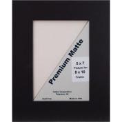 Callen BBC810-81959 Single Hand Cut Photo Mat with Bevel Edge, 20cm x 25cm , Black/Black Core