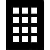 Adorama Pre-Vu Slide Mat, 30cm x 41cm Presentation Board with Twelve 5.7cm x 5.7cm Pockets.