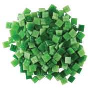 Jennifer's Mosaics Grassy Greens Mix 1cm Venetian Style Glass Mosaic Tile, Assorted Colours, 240ml