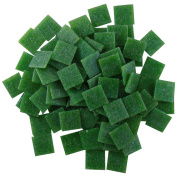 Jennifer's Mosaics 240ml Dark Green 1.9cm Venetian Style Glass Mosaic Tile, Dark Green