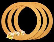 3 Pack, 46cm , Biodegradable Floral Craft Ring, Ez Glueable Wreath Form, for Photo Frame, Other Arts , Props and Crafts Projects