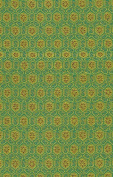 Satin Brocade Book Cloth- Lucky Design in Green 43cm x 70cm Sheet