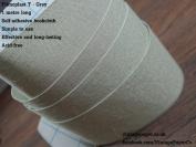Filmoplast T - Bookbinding Cloth, Acid-free Book Spine Repair Tape (Grey) 1 Metre x 8cm.
