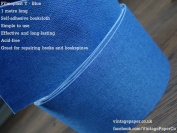 Filmoplast T - Bookbinding Cloth, Acid-free Book Spine Repair Tape (Blue) 1 Metre x 8cm.