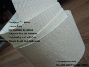 Filmoplast T - Bookbinding Cloth, Acid-free Book Spine Repair Tape (White) 1 Metre x 8cm.