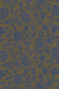 Satin Brocade Book Cloth- Blue Floral on Copper 70cm x 90cm Sheet