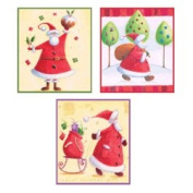 Ecstasy Crafts Craft Uk Creative Christmas Window Decoupage -Santa