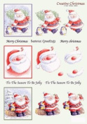 Ecstasy Crafts Craft Uk Creative Christmas Window Decoupage -Cute Santa