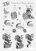 Ecstasy Crafts Craft Uk Silver Christmas Decoupage -Santa