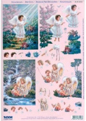 Ecstasy Crafts Reddy 3-D Precut Angels In The Wilderness
