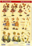 Ecstasy Crafts 3-D Dicuts Hummels - Littles Girls