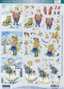 Ecstasy Crafts 3D Paintbox Pre-Cut Winter Children With Tree