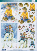 Ecstasy Crafts 3D Paintbox Pre-Cut Winter Kids On Bear