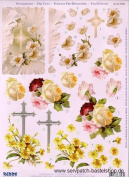 Ecstasy Crafts Flowers And Cross