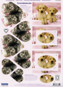 Ecstasy Crafts 3D 2 Sheets Animals Elephant/Puppies