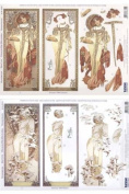 Ecstasy Crafts 3D Die Cut Alphonso Mucha Autumn & Winter