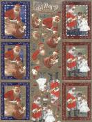 Ecstasy Crafts Dufex Metallic 3D Precut Gallery -Santa In Chimney/ With Children