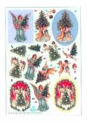 Ecstasy Crafts Dufex Metallic Precut Sheet - Victorian Angels