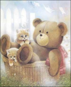 Basket Teddy Paper Tole 3D Kit 8x10