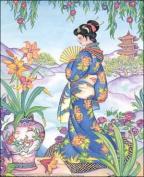 Asian Woman II Paper Tole 3D Kit 8x10