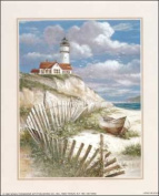 Lighthouse w/Row Boat Paper Tole 3D Kit 8x10