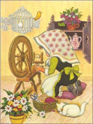 Spinning Wheel Paper Tole 3D Kit Size 8x10