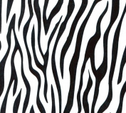 Black Zebra Print Clear (60cm X 100') Cellophane Roll