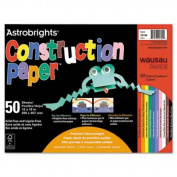 Wausau Paper Astrobrights Construction Paper, 72-Lb., 12 X 18, 50 Sheets/Pack