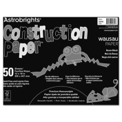 Wausau Papers 20701 Astrobrights Construction Paper, 72-lb., 12 x 18, Raven Black, 50 Sheets-Pack