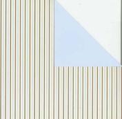Making Memories 12x12 Cosmopolitan Paper-Slimming Stripes Blue