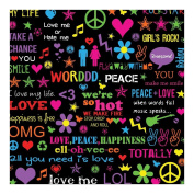 Sugar Tree Papers 30cm x 30cm -Love & Peace 25 per pack