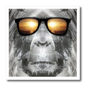 Perkins Designs Characters - Bigfoot In Shades Bigfoot or Sasquatch is pictured in style wearing sunglasses - Iron on Heat Transfers