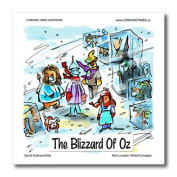 Londons Times Gen. 2 Famous People Places Authors Cartoons - Blizzard Of Oz - Iron on Heat Transfers