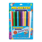 Scented Stix Watercolour Markers, Fine Point, 10/Set