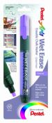 Pentel Arts Wet Erase Chalk Marker, Chisel Tip, Violet Ink, 1 Pack